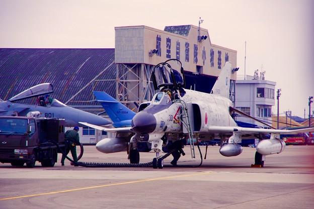 小牧基地航空祭。。岐阜のファントム帰投準備へ。。