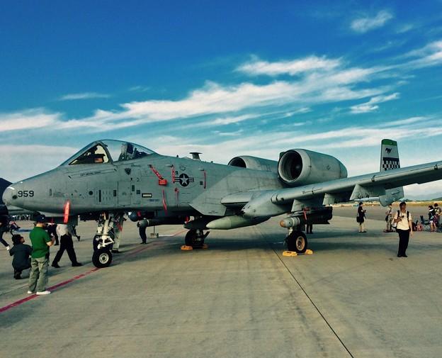 三沢で見れたA-10サンダーボルト攻撃機。。