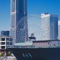 写真: 青空なみなとみらいと海上自衛隊掃海母艦うらが。。5月30日