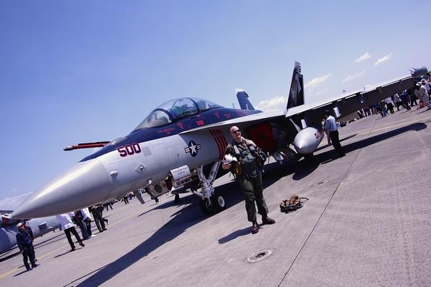 VAQ-141shadowhawksの色付き展示。。EA-18Gグラウラー