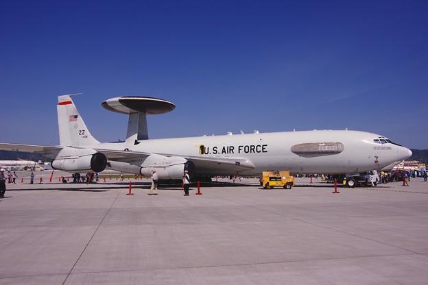 岩国基地 嘉手納のE-3セントリー早期警戒機 5月5日