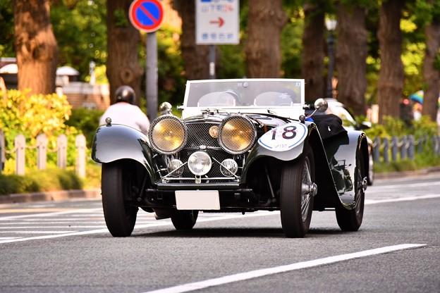 RALLY YOKOHAMA 名車 jaguar SS100。。in山下公園