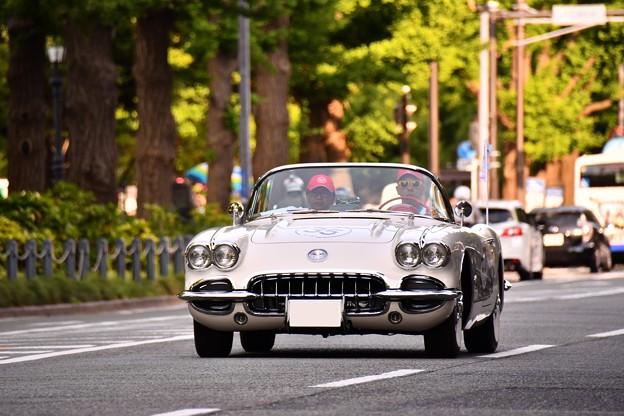 RALLY YOKOHAMA 名車 コルベット corvette。。in山下公園