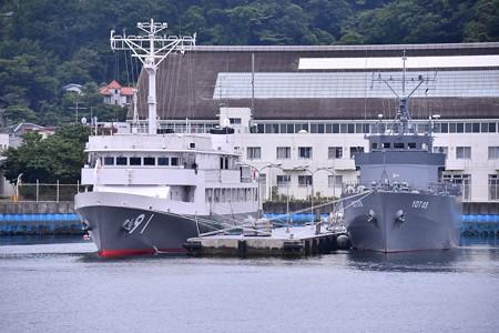 横須賀基地にある特務艇はしだて。。唯一一隻しかない。。20160619