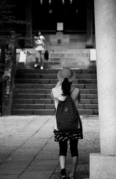 モノクロの風景。。長谷の御霊神社にて。。20160624