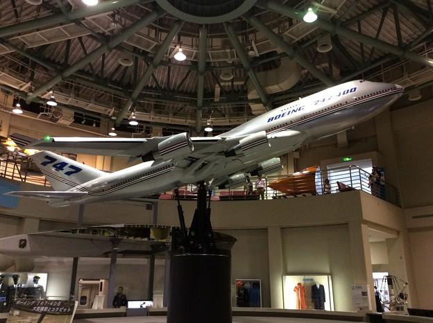 航空科学博物館。。ボーイングB747の模型 20160626