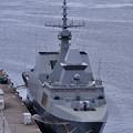 撮って出し。。親善訓練で訪日シンガポール海軍フリーゲート艦ステッドファース。。横須賀基地