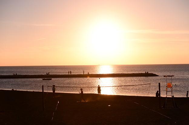 館山から見る綺麗な夕焼け。。20160730