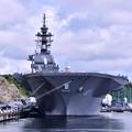 夏の横須賀ヴェルニー公園 真正面の護衛艦いずも 20160806