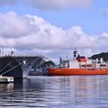 夏の横須賀ヴェルニー公園から港を眺めて。。20160806