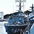 海上自衛隊掃海艇えのしまも一般公開。。米海軍横須賀基地 20160806