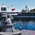 駆逐艦カーティスウィルバーの機銃砲と空母ロナルドレーガン 20160806