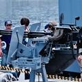 海上自衛隊掃海艇えのしまの機関砲 20160806