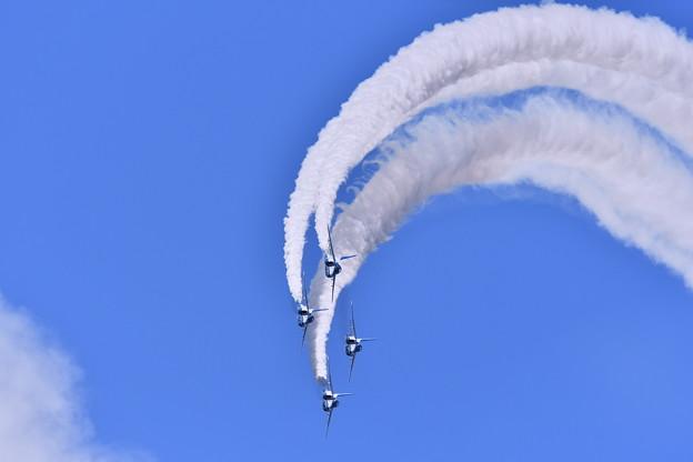 三沢の青空。。ダイヤモンドロール。。三沢基地航空祭予行練習
