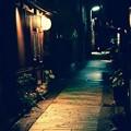 小京都金沢。。夜のひがし茶屋街の路地裏 20160918