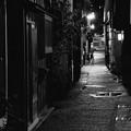 モノクロの世界。。金沢主計町茶屋街の路地裏 20160918