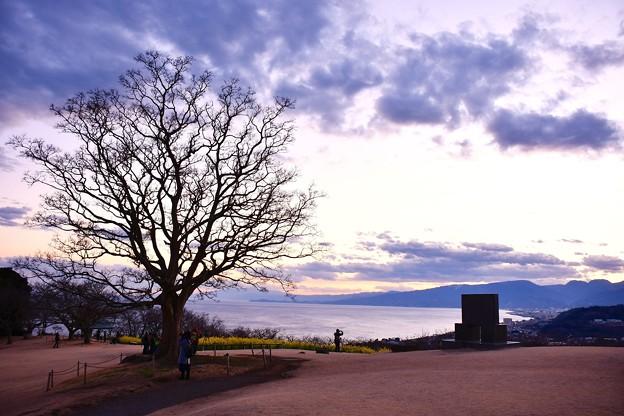 吾妻山公園の夕焼け空。。20170121