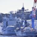 撮って出し。。横須賀基地 珍しい艦船イギリス海軍給油艦TIDE SPRING A136寄港 2月12日