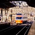 撮って出し。。小田急ロマンスカー。。LSE7000系はこね号  海老名駅通過。。2月19日