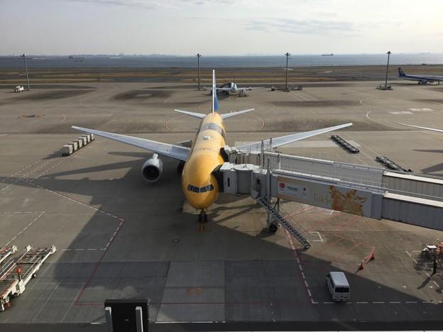 撮って出し。。新塗装STARWARS C3-POジェット 伊丹へ。。3月25日