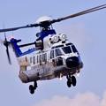 木更津航空祭。。ユーロコプター スーパーピューマ旋回。。