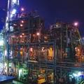 Photos: 間近で見る夜のパイプライン。。京浜工業地帯20170304