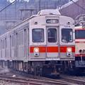 SLフェスタの日に会えた旧東急7200系ダイヤモンドカット前面(^^)