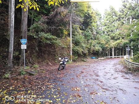 R169伯母谷峠旧道のおにぎり