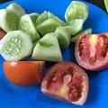写真: 自炊のガーリックライスとサラダ (3)