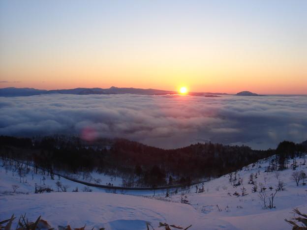美幌峠の日出と雲海