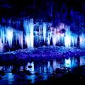 写真: 氷柱ライトアップ
