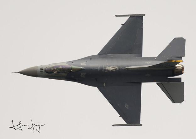 写真: F-16上面