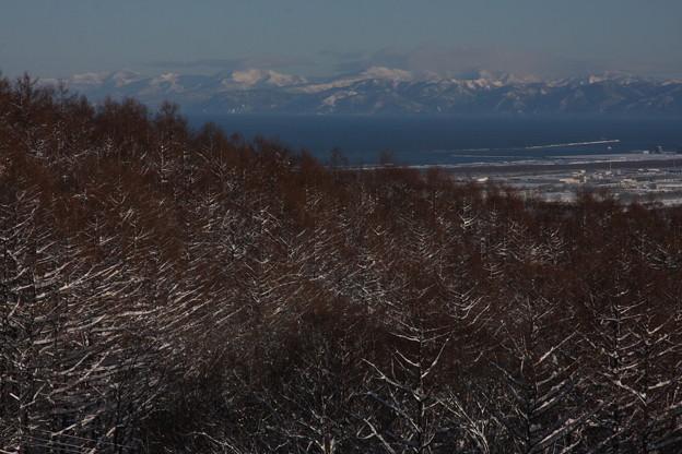 冬晴れの石狩湾