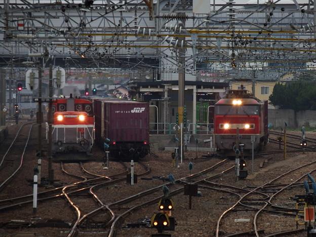DE10-1719牽引956レ・EF510-19牽引4093レ&EF510-17牽引2090レ