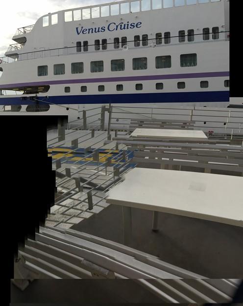 大型船入港