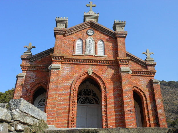 五島列島巡礼の旅*無人島・野崎島にある旧野首教会1