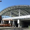 Photos: 白球をイメージしたドーム型の屋根@阪神甲子園駅