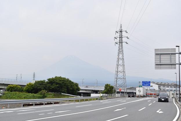 霞む富士山@東田子の浦