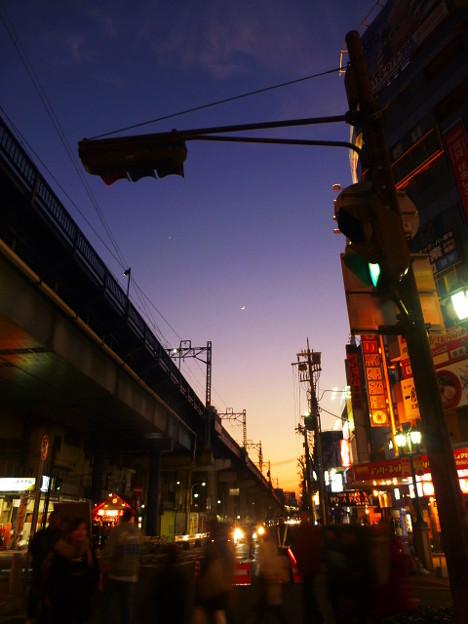 神戸三宮のマジックアワー