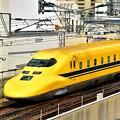 幸せ運ぶ黄色い新幹線