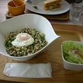 写真: バジル炒めご飯