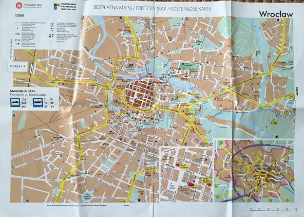 ブロツワフ 地図 Wroclaw map