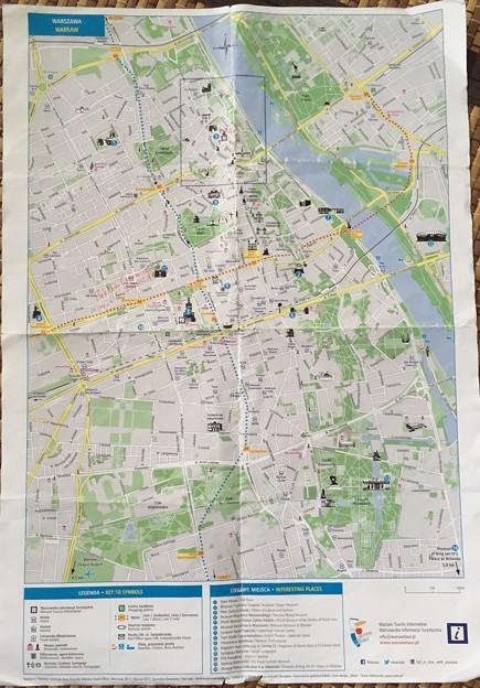 ワルシャワ 市内地図