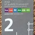 写真: ワルシャワ 公共交通機関の地図