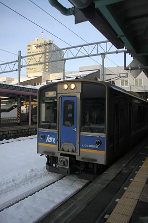 IGRの電車だ。北上行き