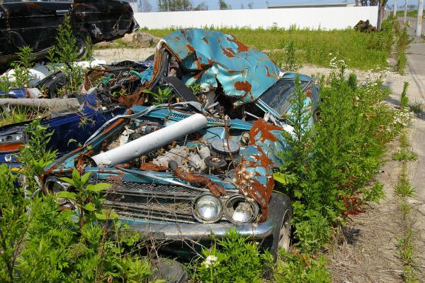大切にして来たであろう旧車の変わり果てた姿