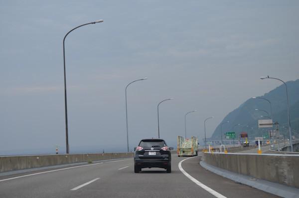 敦賀から高速に乗って北上