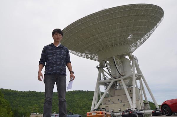 直径64mのパラボラアンテナがある臼田宇宙空間観測所