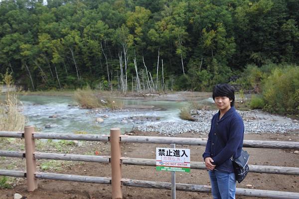 以前は入れた川へは立ち入り禁止になっていた