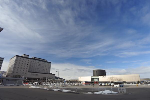 気持ちの良い空が広がる函館の朝